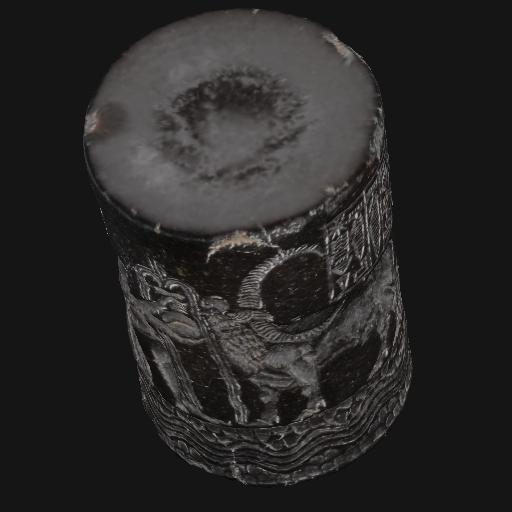 Vue en 3D du sceau-cylindre